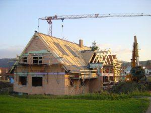 Wohnhaus im Bau